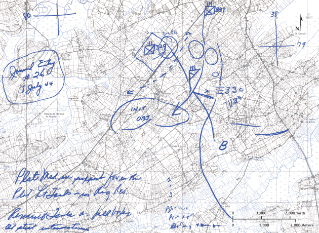 08 July 1944 - 83 ID Approaching Sainteny