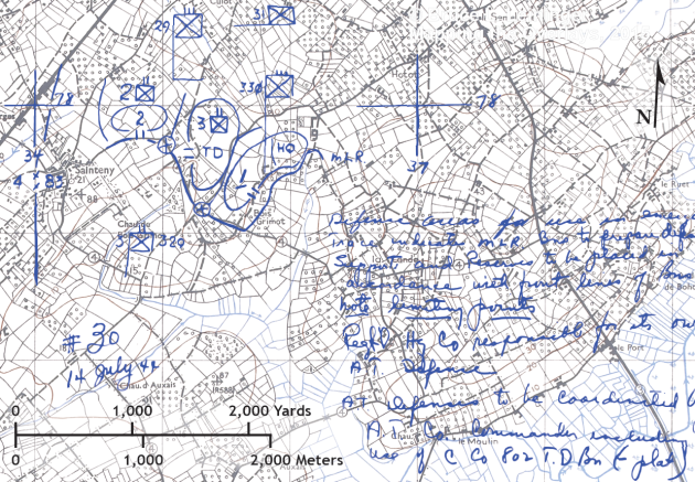 14 July 1944, 330 IR Near Sainteny